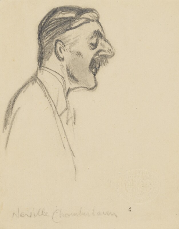 Neville Chamberlain, by Sir David Low, late 1930s-early 1940s? - NPG 4529(73) - © Solo Syndication Ltd