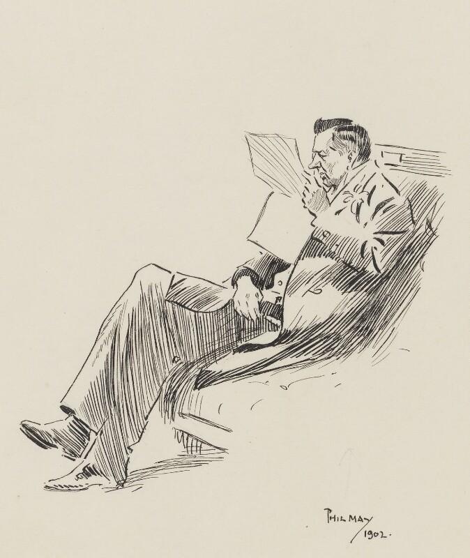 Joe Chamberlain, by Philip William ('Phil') May, 1902 - NPG 3020 - © National Portrait Gallery, London