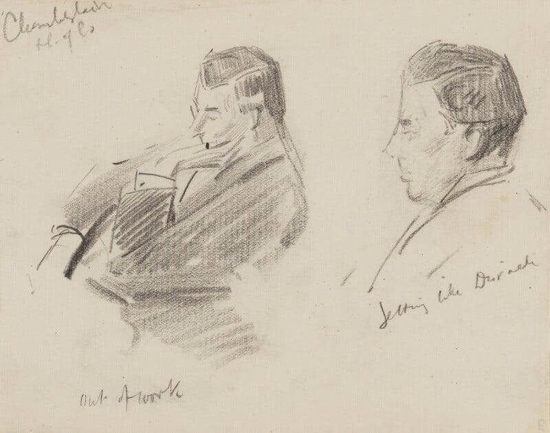 Joe Chamberlain, by Sydney Prior Hall,  - NPG 2330 - © National Portrait Gallery, London