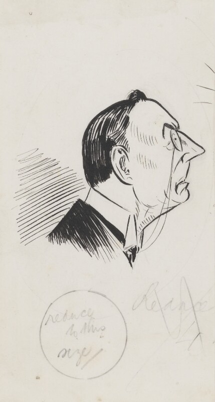 Joe Chamberlain, by Sir Francis Carruthers Gould ('F.C.G.'), 1890s or 1900s? - NPG 2829 - © National Portrait Gallery, London
