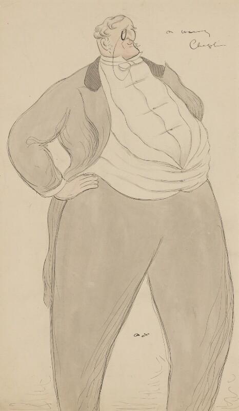 Henry Chaplin, 1st Viscount Chaplin, by Sir Max Beerbohm, 1897-1932 - NPG 3853 - © estate of Max Beerbohm