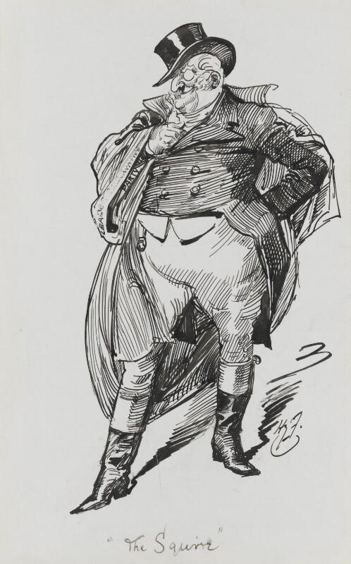 Henry Chaplin, 1st Viscount Chaplin, by Harry Furniss, 1880s-1900s - NPG 3439 - © National Portrait Gallery, London