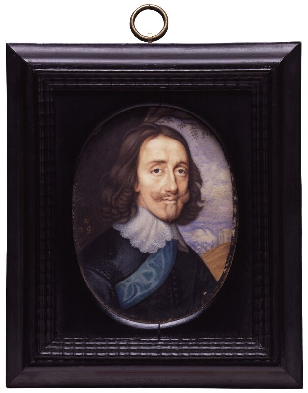 King Charles I, by David Des Granges, after  John Hoskins, based on a work of circa 1645 - NPG 1924 - © National Portrait Gallery, London