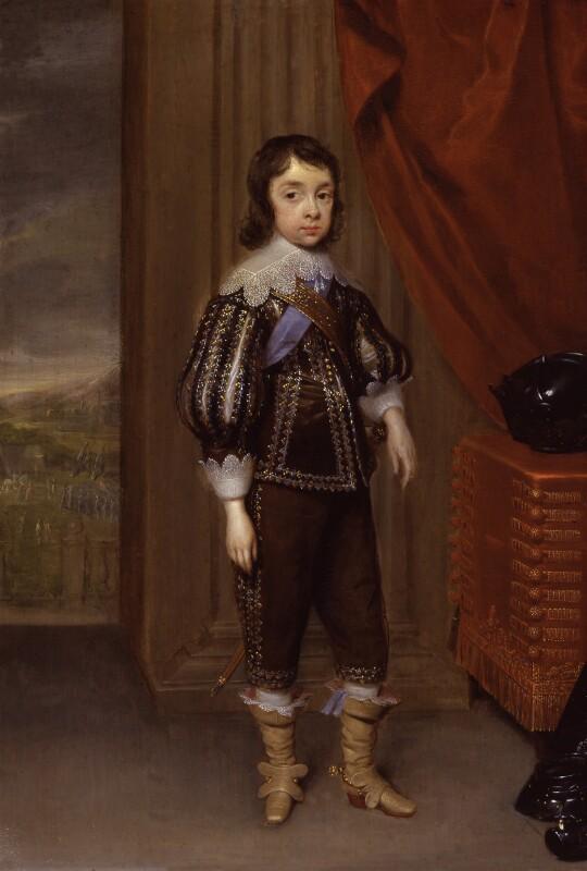 King Charles II, by Cornelius Johnson (Cornelius Janssen van Ceulen), 1639 - NPG 5103 - © National Portrait Gallery, London