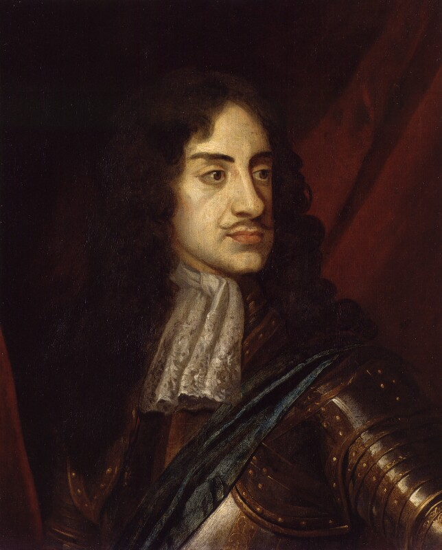 King Charles II, by Unknown artist, circa 1665 - NPG 1313 - © National Portrait Gallery, London
