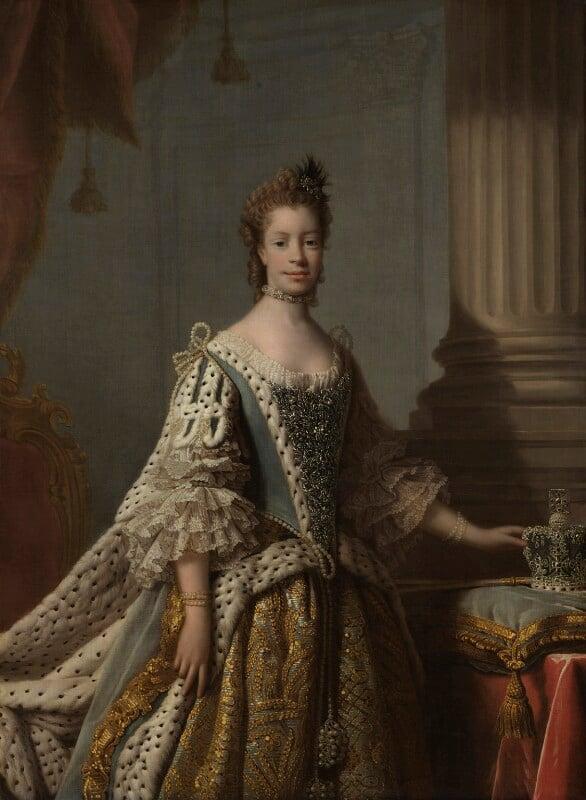 Charlotte of Mecklenburg-Strelitz, by Allan Ramsay, 1761-1762 -NPG 224 - © National Portrait Gallery, London