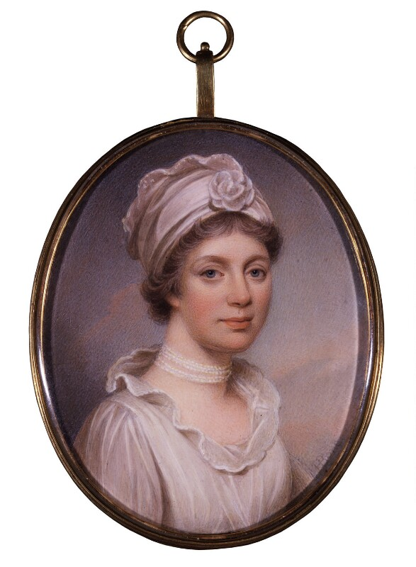 Sophia Charlotte of Mecklenburg-Strelitz, by Henry Bone, after  Sir William Beechey, 1801, based on a work of circa 1793 - NPG 6290 - © National Portrait Gallery, London