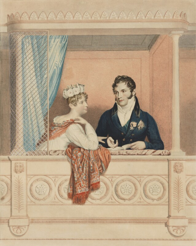Princess Charlotte Augusta of Wales; Leopold I, King of the Belgians, by William Thomas Fry, after  George Dawe, based on a work of 1817 - NPG 1530 - © National Portrait Gallery, London
