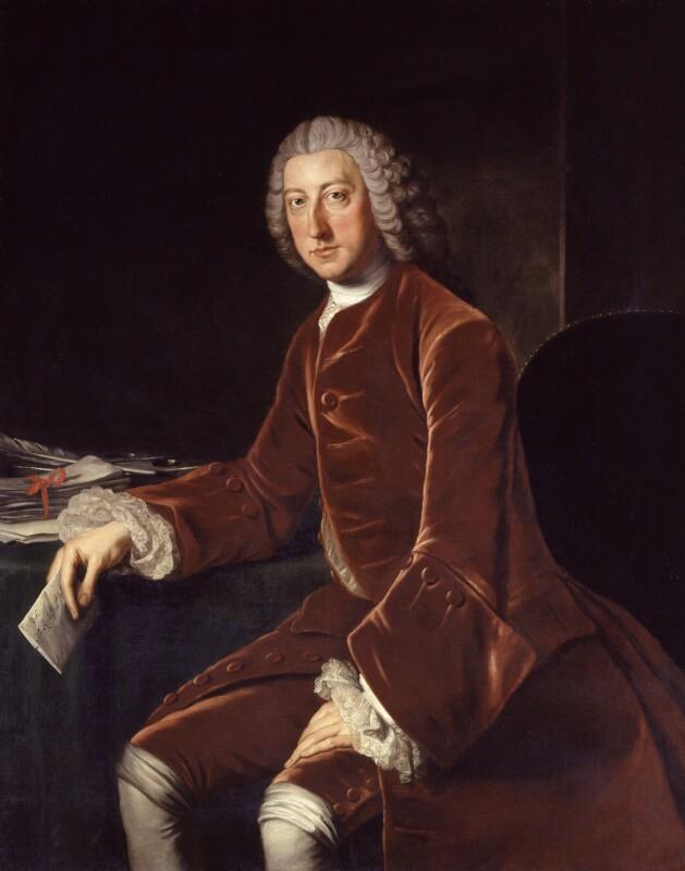 William Pitt, 1st Earl of Chatham, studio of William Hoare, circa 1754 - NPG 1050 - © National Portrait Gallery, London