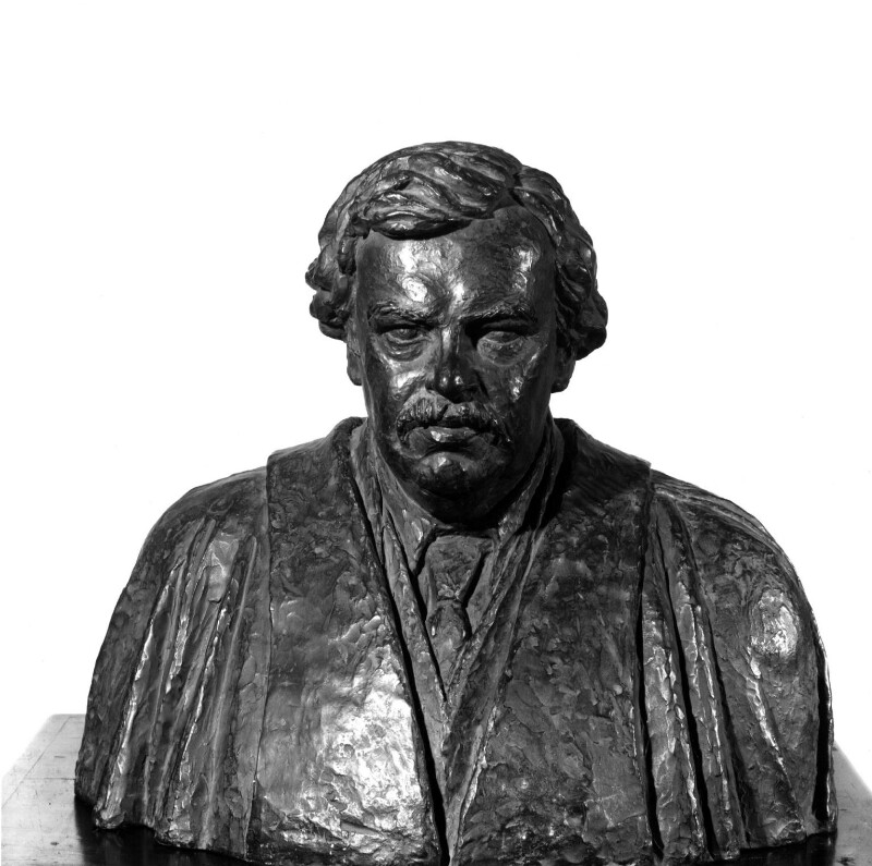 G.K. Chesterton, by Maria Petrie (née Zimmern), 1926 - NPG 3240 - Photograph © National Portrait Gallery, London