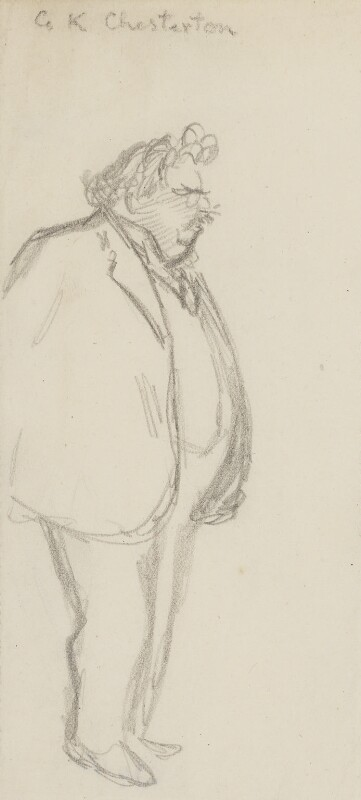 G.K. Chesterton, by Sir David Low, 1926 or before - NPG 4529(81) - © Solo Syndication Ltd
