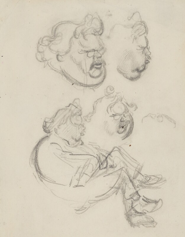 G.K. Chesterton, by Sir David Low, 1926 or before - NPG 4529(83) - © Solo Syndication Ltd