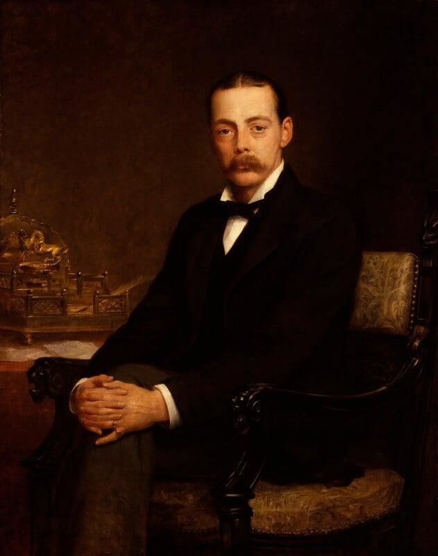 Lord Randolph Churchill, by Edwin Longsden Long, exhibited 1888 - NPG 5113 - © National Portrait Gallery, London