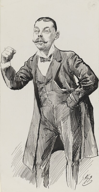 Lord Randolph Churchill, by Harry Furniss, 1880s-1900s - NPG 3351 - © National Portrait Gallery, London