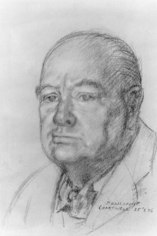 Winston Churchill, by Bernard Hailstone, 1956 - NPG 4458 - © National Portrait Gallery, London
