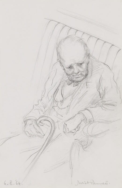 Winston Churchill, by Juliet Pannett, 1964 - NPG 4474 - © National Portrait Gallery, London