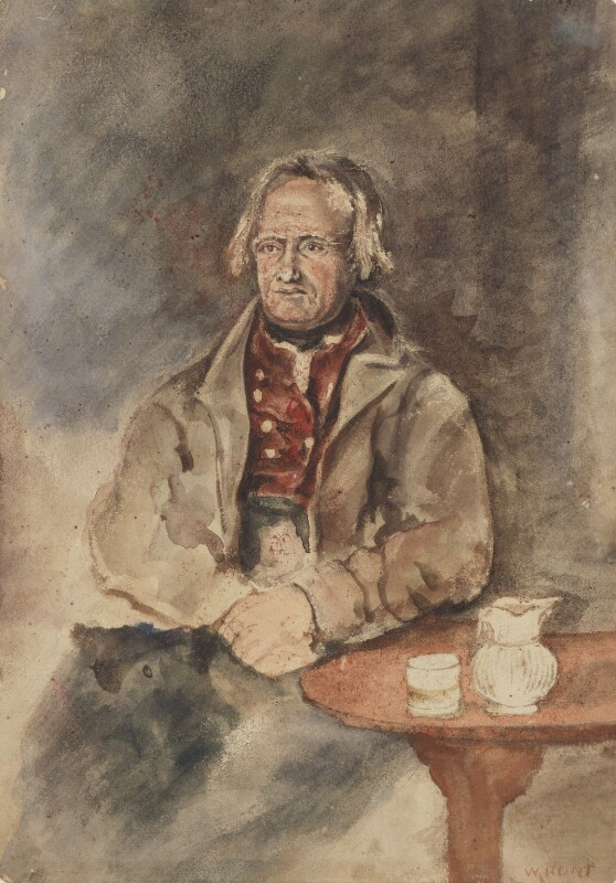 Unknown man, formerly known as John Clare, by William Henry Hunt, 1820s - NPG 3843 - © National Portrait Gallery, London