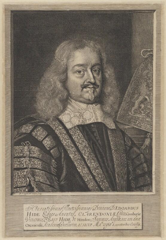 Edward Hyde, 1st Earl of Clarendon, by David Loggan, 1666 - NPG 645 - © National Portrait Gallery, London