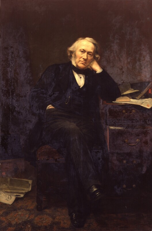Richard Cobden, by Lowes Cato Dickinson, 1870, based on a work of 1861 - NPG 316 - © National Portrait Gallery, London