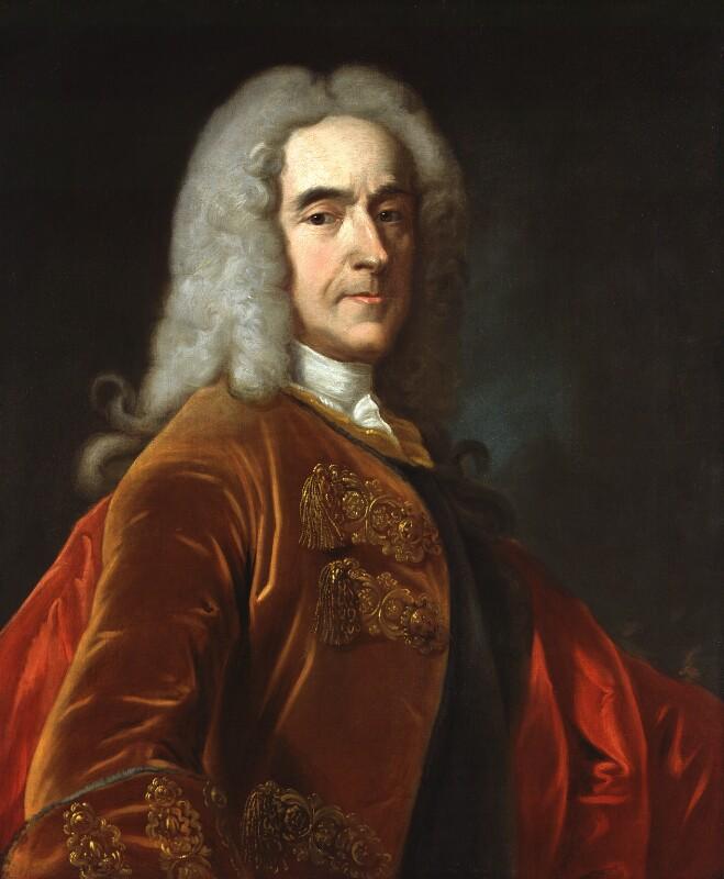 Richard Temple, 1st Viscount Cobham, after Jean Baptiste van Loo, 1740, based on a work of circa 1740 - NPG 286 - © National Portrait Gallery, London