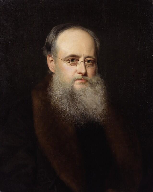 Wilkie Collins, by (Wilhelm Augustus) Rudolf Lehmann, 1880 - NPG 3333 - © National Portrait Gallery, London