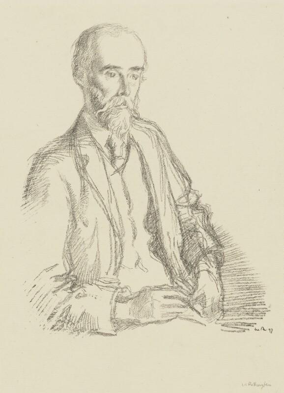 Sir Sidney Colvin, by Sir William Rothenstein, 1897 - NPG 3999 - © National Portrait Gallery, London