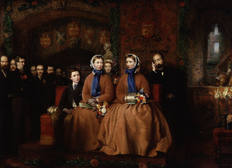 The Opening of the Royal Albert Infirmary at Bishop's Waltham, 1865, by Unknown artist, circa 1865 - NPG 3083 - © National Portrait Gallery, London