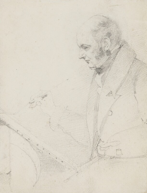 John Constable, by Daniel Maclise, circa 1831 -NPG 1458 - © National Portrait Gallery, London