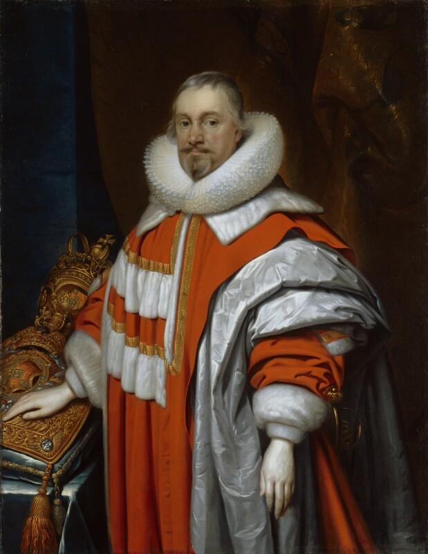 Thomas Coventry, 1st Baron Coventry, by Cornelius Johnson, 1639 - NPG 4815 - © National Portrait Gallery, London