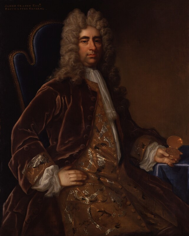 James Craggs the Elder, attributed to Thomas Murray, circa 1710 - NPG 1733 - © National Portrait Gallery, London