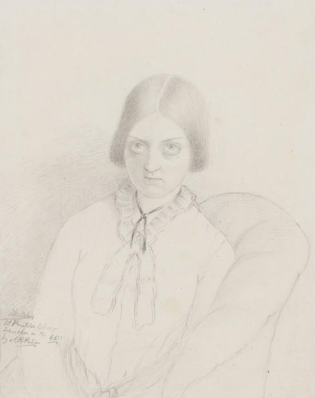 Dinah Maria Craik (née Mulock), by Amelia Robertson Hill (née Paton), 1845 - NPG 2544 - © National Portrait Gallery, London