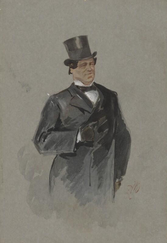 William Creswick, by Alfred Bryan,  - NPG 2450 - © National Portrait Gallery, London