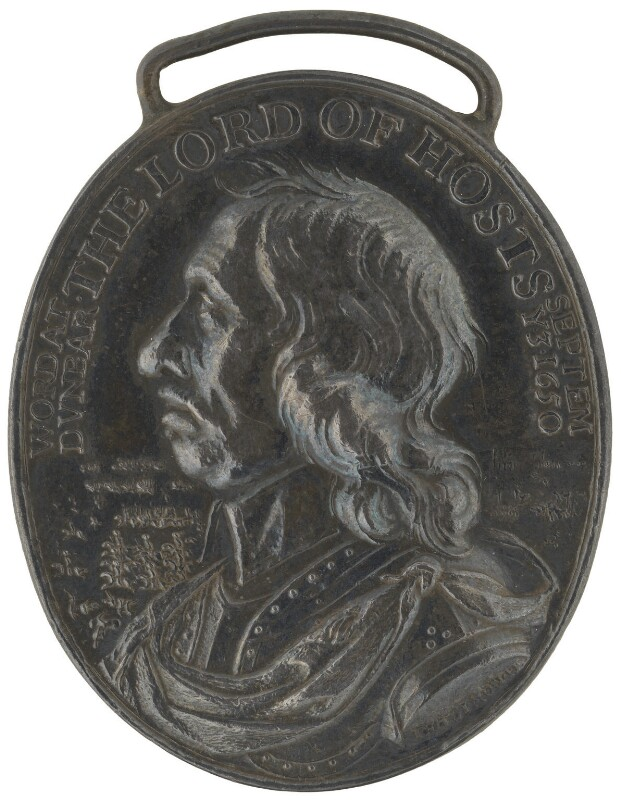 Oliver Cromwell ('The Dunbar Medal'), by Thomas Simon, 1650 - NPG 4365 - © National Portrait Gallery, London