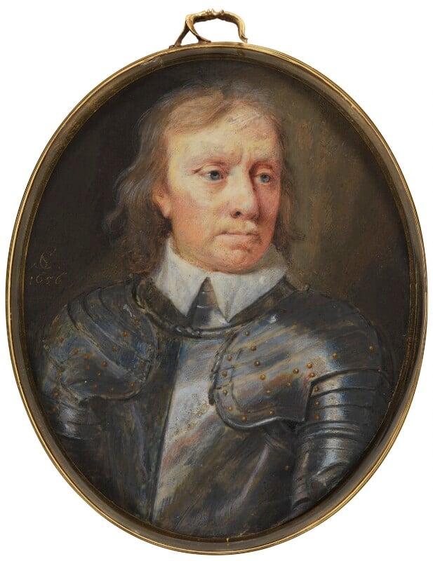 Oliver Cromwell, by Samuel Cooper, 1656 -NPG 3065 -