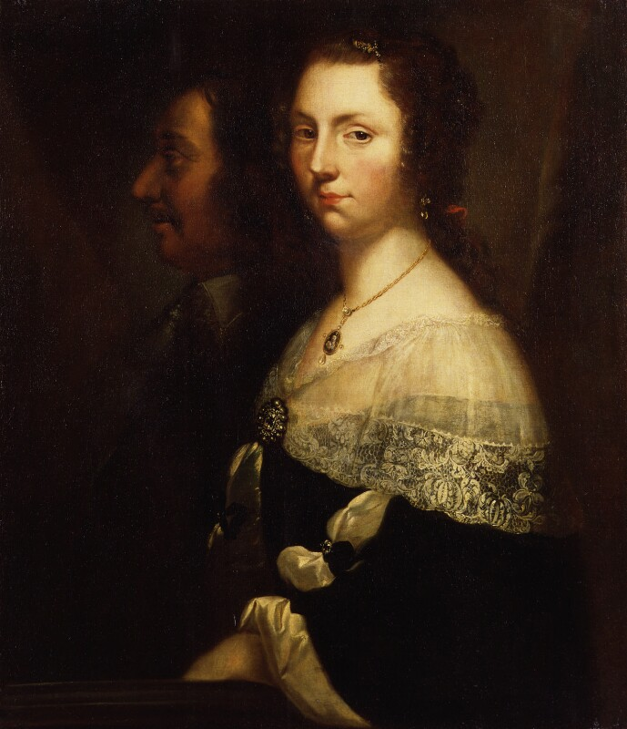 Unknown man and woman, formerly known as Oliver Cromwell and his daughter, by Unknown artist,  - NPG 982g - © National Portrait Gallery, London