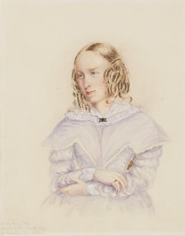 George Eliot (Mary Ann Cross (née Evans)), by Caroline Bray, 1842 - NPG 1232 - © National Portrait Gallery, London