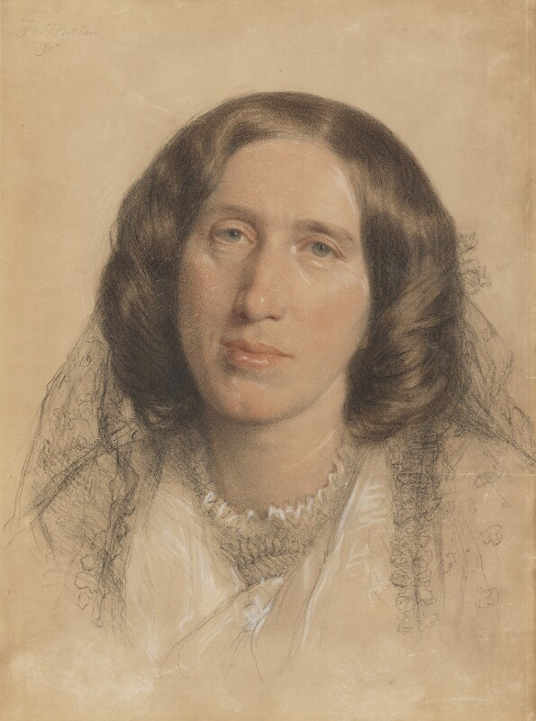 George Eliot (Mary Ann Cross (née Evans)), by Sir Frederic William Burton, 1865 - NPG 669 - © National Portrait Gallery, London