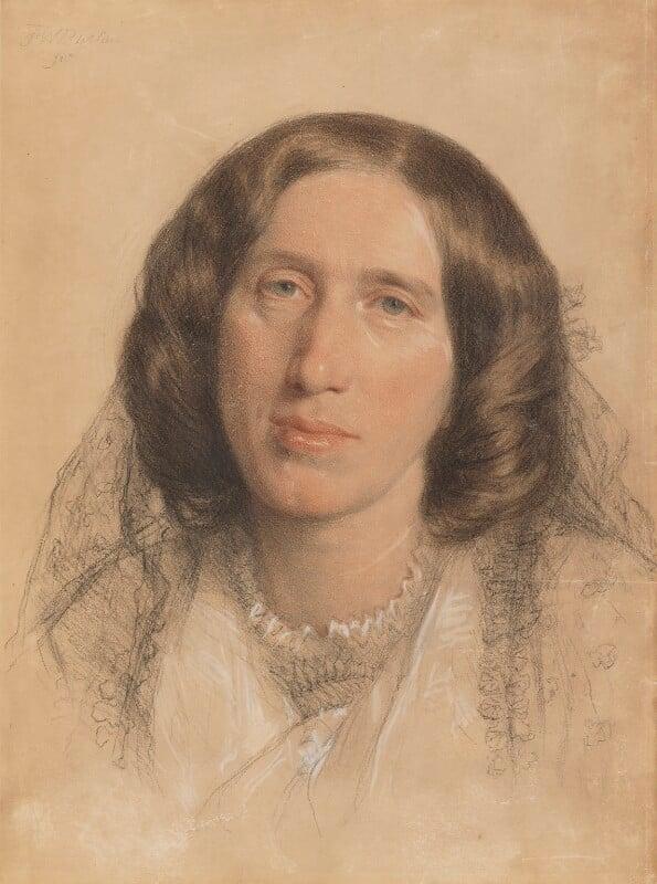 George Eliot, by Sir Frederic William Burton, 1865 - NPG 669 - © National Portrait Gallery, London