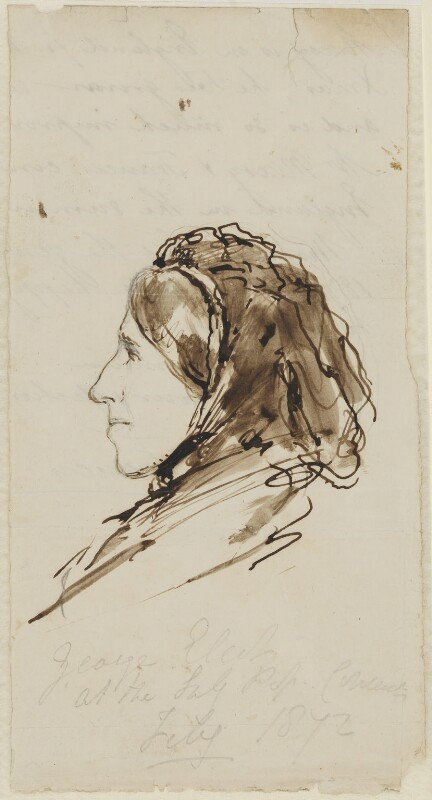 George Eliot (Mary Ann Cross (née Evans)), by Lowes Cato Dickinson, 1872 - NPG 4961 - © National Portrait Gallery, London