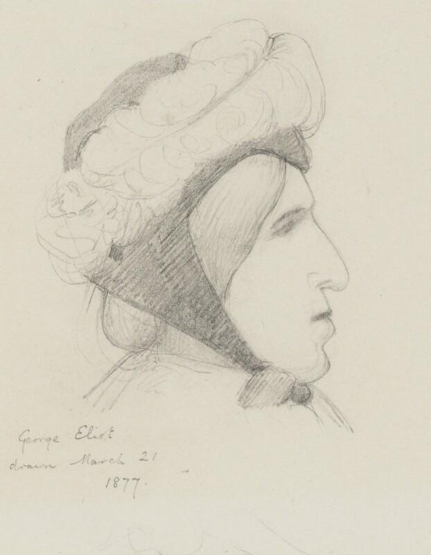George Eliot (Mary Ann Cross (née Evans)), by Laura Theresa (née Epps), Lady Alma-Tadema, 1877 - NPG 1758 - © National Portrait Gallery, London