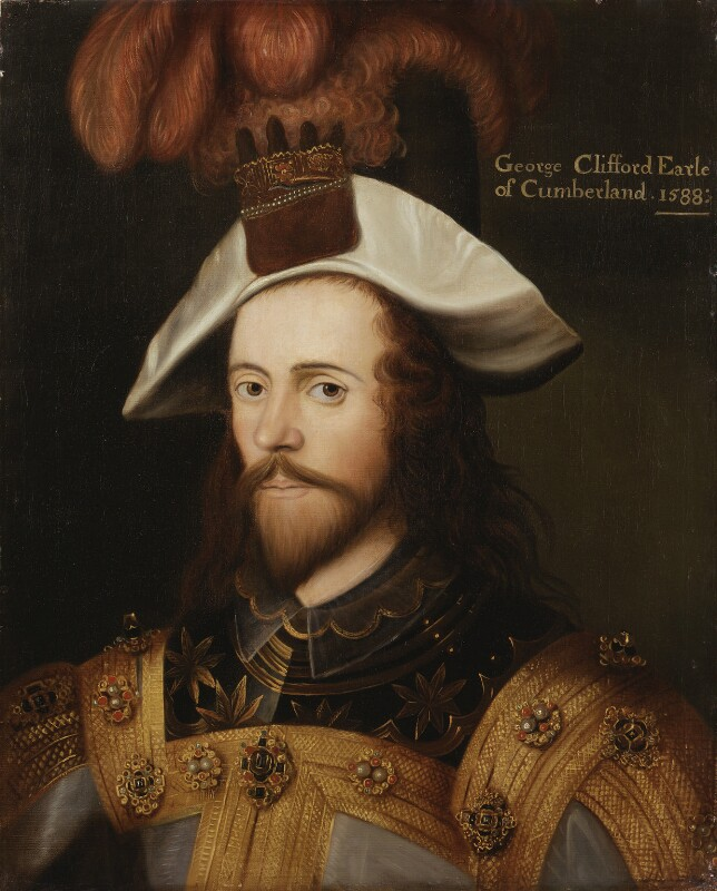 George Clifford, 3rd Earl of Cumberland, after Nicholas Hilliard, early 19th century, based on a work of 1590 - NPG 277 - © National Portrait Gallery, London