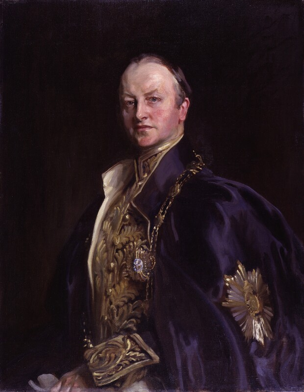 George Nathaniel Curzon, Marquess Curzon of Kedleston, by John Cooke, after  John Singer Sargent, 1914-1932, based on a work of 1914 - NPG 2534 - © National Portrait Gallery, London