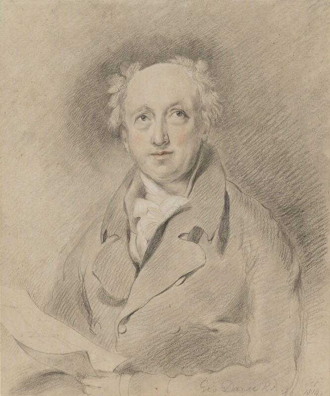 George Dance, by George Henry Harlow, 1814 -NPG 2812 - © National Portrait Gallery, London