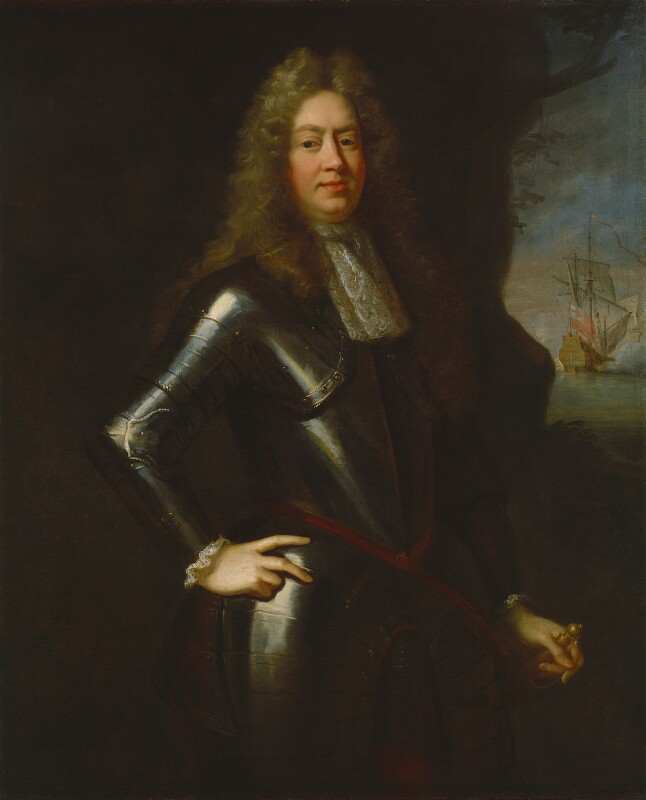 George Legge, 1st Baron Dartmouth, after John Riley, based on a work of circa 1685-1690 - NPG 664 - © National Portrait Gallery, London