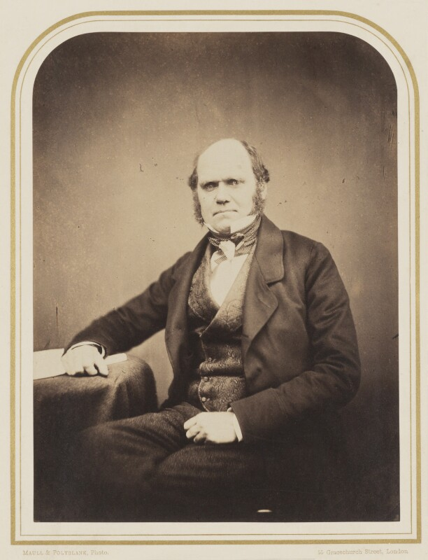 Charles Darwin, by Maull & Polyblank, circa 1855 - NPG P106(7) - © National Portrait Gallery, London