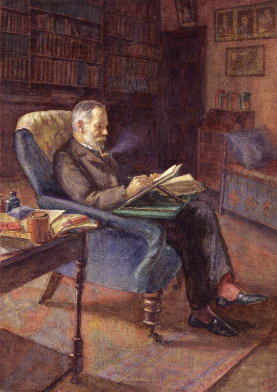 Sir George Howard Darwin, by Gwendolen ('Gwen') Raverat (née Darwin), circa 1900s - NPG 2101 - © National Portrait Gallery, London