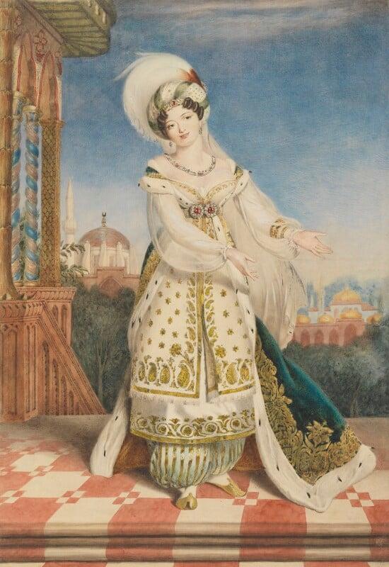 Claudine de Begnis (née Ronzi), by Alfred Edward Chalon, circa 1823 - NPG 1328 - © National Portrait Gallery, London