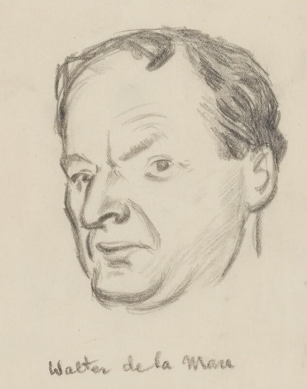 Walter de la Mare, by Sir David Low, 1930s? - NPG 4529(231) - © Solo Syndication Ltd