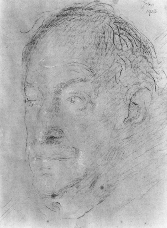Walter de la Mare, by Augustus Edwin John, 1950 - NPG 4473 - © estate of Augustus John / Bridgeman Art Library www.bridgemanart.com