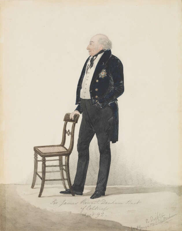 Sir James Steuart Denham, 8th Bt, by Richard Dighton, 1836-1837 -NPG 2756 - © National Portrait Gallery, London